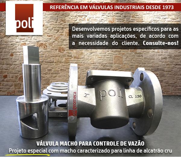 Válvula macho para controle de vazão – Projetos especiais!
