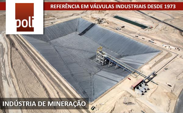 Válvulas mangote para indústrias de mineração