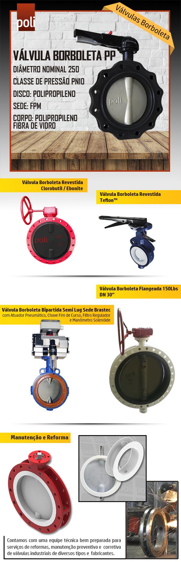 Válvulas Borboleta para diversas aplicações. Consulte-nos!